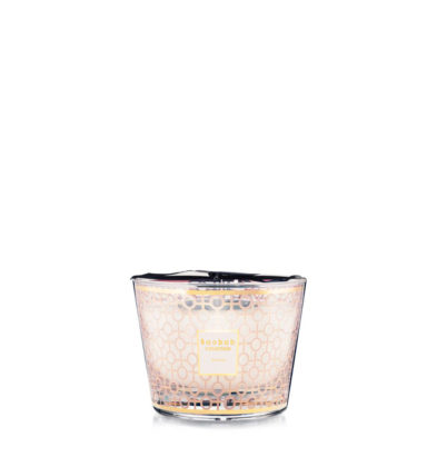 Bougie Baobab parfum de rose poudré Max 10