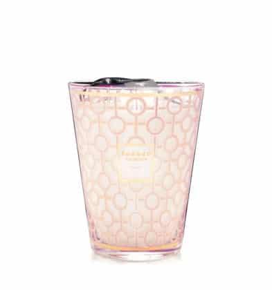 Bougie Baobab parfum de rose poudré Max 16