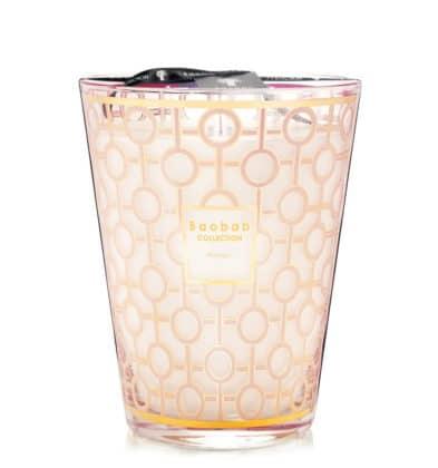 Bougie Baobab parfum de rose poudré Max 24