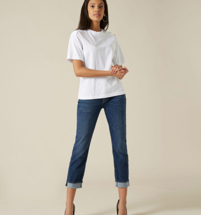 7 For All Mankind Relaxed Skinny Bleu