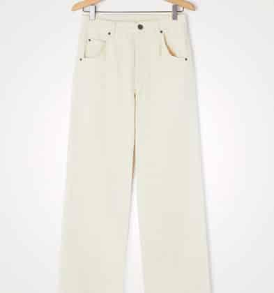 American Vintage Jeans Droit Ecru