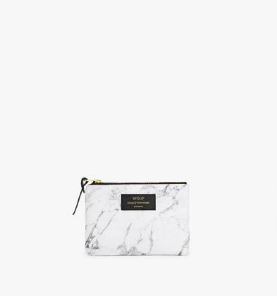 WOUF White Marble Small Pouch Bag